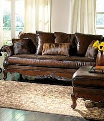 Leather And Wood Sofa Bernhardt Cheyenne Wood Frame Leather Sofa For The Home