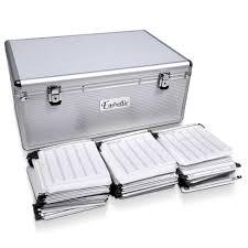 500 disc aluminum cd dvd storage box case graysonline