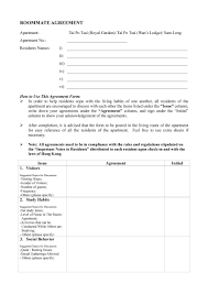 free roommate agreement template 100 visitors form template client sign off template
