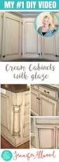 learn to paint a cream cabinet with glaze cream cabinets