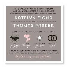 timeline wedding invitations