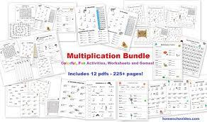 learning the multiplication tables 2s through 9s homeschool den