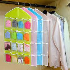 Over Door Closet Organizer - 16 pockets hanging shoe organizer over door storage bag holder
