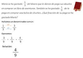 problemas razonados para cuarto grado problemas con fracciones matemáticas de primaria
