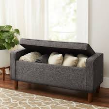 Upholstered Storage Bench Uk Bench Mid Century Bench Better Homes And Gardens Flynn Mid