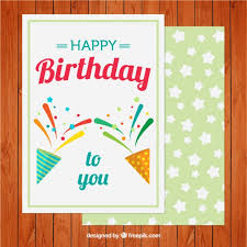 nice birthday card with stars vector free download