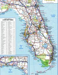Florida Map Beaches Detailed Map Of Florida My Blog
