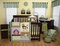 Crib Bedding Sets by Amazon Com Trend Lab Baby Barnyard 3 Piece Crib Bedding Set