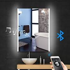 Mirror Wall Bathroom 24 X 32 Led Bluetooth Bathroom Mirror Wall Mounted