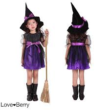 toddler witch costume buy kid witch costume with cap and besom