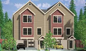 dual family house plans duplex house plans three story duplex design w office www