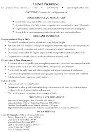 Best Resume Sample by Customer Service Resume Template Berathen Com