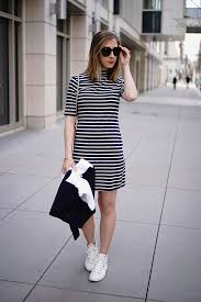 stripe sporty dress casual ideas dresses paired with