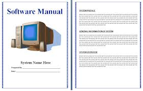 free manual template word 8 user manual templates word excel pdf formats