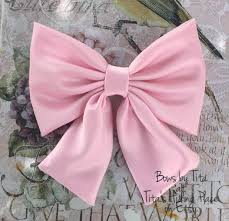 large hair bows pink bow large bow satin bow pink hair bow attatchable