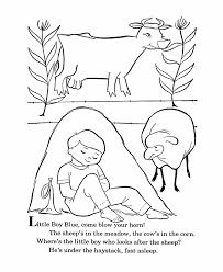 bluebonkers nursery rhymes coloring page sheets little boy