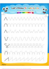 draw simple lines handwriting practice worksheet free printable