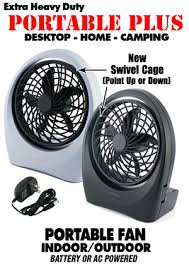 Small Desk Fans Battery Operated Desk Fan With Ac Adapter Dc Batteries