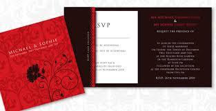Black Wedding Invitations Michael U0026 Sophie U0027s Red U0026 Black Lavish Wedding Invitation Ink