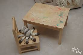 Montessori Weaning Table How To Make Your Own Montessori Weaning Table And Chairs By Easily