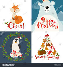 cards merry vector stock with