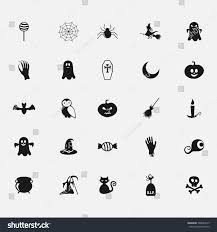 free halloween images on white background black halloween icon on white background stock vector 309044315