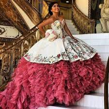 pictures of quinceanera dresses hot sale 2017 white embroidery quinceanera dress gown with