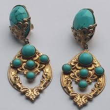 clip on earrings uk turquoise clip earrings vintage jewellery jewels finery