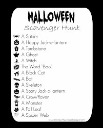 halloween scavenger hunt printable u2013 festival collections