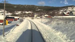 cab ride trondheim bodø winter nordland line