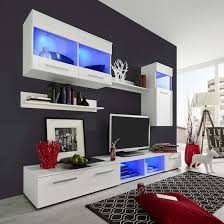 German Living Room Furniture Westbourne Living Room Set In White Gloss Fronts With