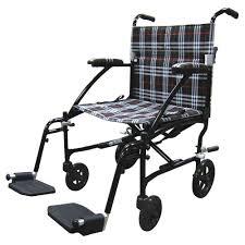 Drive Wheel Chair Drive Fly Lite Ultra Lightweight Plaid Transport Wheelchair Dfl19