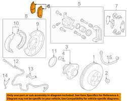 nissan altima 2013 rear brake pads nissan oem rear disc brake pads d4m609n00a ebay