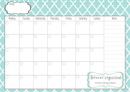monthly calendar print monthly calendar printable