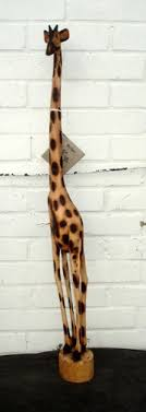 handcarved medium 100cm wooden giraffe stylish fair trade