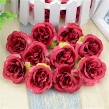 silk roses 10pcs lot mini artificial flowers silk roses heads for wedding
