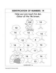 kindergarten number recognition worksheets bouncing numbers