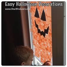 easy preschool halloween decorations jack o lantern windows how