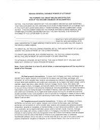 General Power Of Attorney Act by General Durable Power Of Attorney Indiana Free Download
