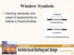 symbol for window in floor plan chapter 14 floor plan symbols ppt video online download