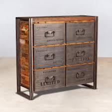 meuble cuisine bois recyclé superior meuble cuisine bois recycle 9 commode metallique