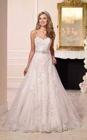 a line princess wedding dress satin a line princess wedding dresses stella york
