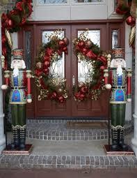 Ideas For Christmas Decorations Glamorous Front Door Christmas Decorating Ideas New In Exterior