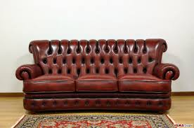 Chesterfield Style Sofa by Buttoned Leather Sofa In The Chesterfield Style