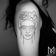 minimalism single line tattoos by artist mo ganjiby