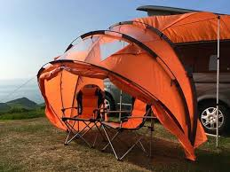 Camper Van Awnings Sheltapod Campervan Awning Works As A Tent Gadgetsin