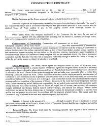 construction contract template open door construction