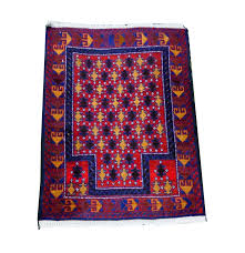 hand knotted wool afghan prayer rug ebth