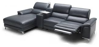 Black Leather Sofa Recliner Sectional Sofas With Recliners In Living Room Modern With Modern