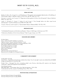 Example Resume For Internship by Medical Doctor Resume Example Sample